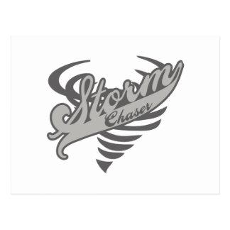 Storm Chaser Tornado Twister Logo Post Card
