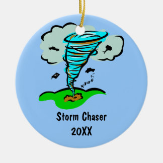 Storm Chaser Tornado Twister Weather Meteorology Ceramic Ornament
