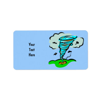 Storm Chaser Tornado Twister Weather Meteorology Label