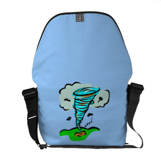 Storm Chaser Tornado Twister Weather Meteorology Courier Bags