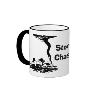 Storm Chaser Tornado Twister Weather Meteorology Ringer Mug