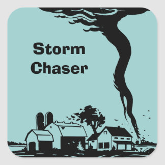 Storm Chaser Tornado Twister Weather Meteorology Square Sticker