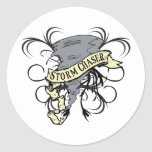 Storm Chasers Round Stickers