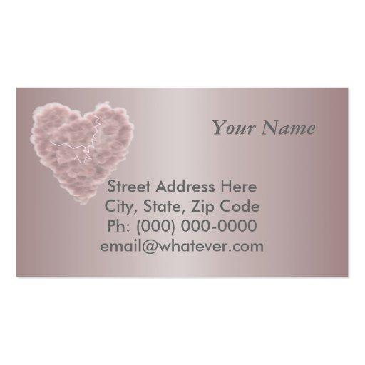 Storm Cloud Heart Double-Sided Standard Business Cards (Pack Of 100)