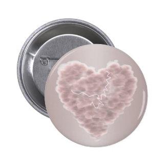 Storm Cloud Heart Pinback Button