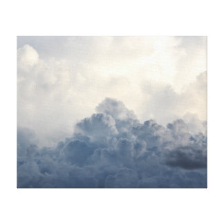 Storm Cloud Heavenly White Clouds In Sky Canvas Print
