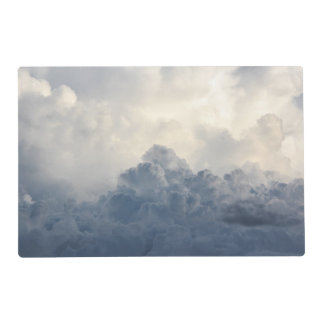 Storm Cloud Heavenly White Clouds In Sky Placemat