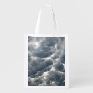 STORM CLOUDS 2 REUSABLE GROCERY BAGS