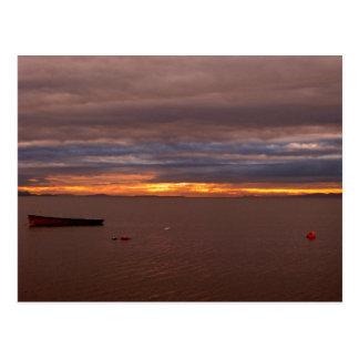 Storm Clouds At Sunset Postcard