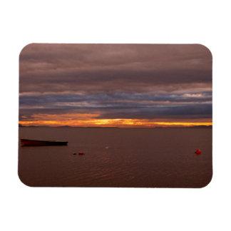 Storm Clouds At Sunset Rectangular Photo Magnet