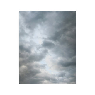 Storm Clouds Breaking Apart Metal Photo Print