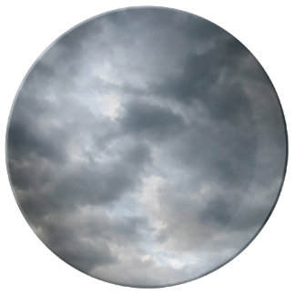 Storm Clouds Breaking Porcelain Plates