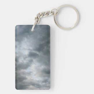 Storm Clouds Breaking Rectangle Acrylic Keychain
