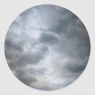 Storm Clouds Breaking Round Stickers