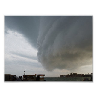 Storm clouds descending: Venice (Venezia), Italy Poster