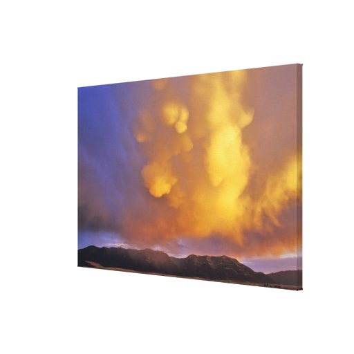 Storm Clouds in the Centennial Range in Montana Gallery Wrapped Canvas