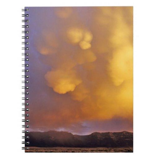 Storm Clouds in the Centennial Range in Montana Spiral Notebook