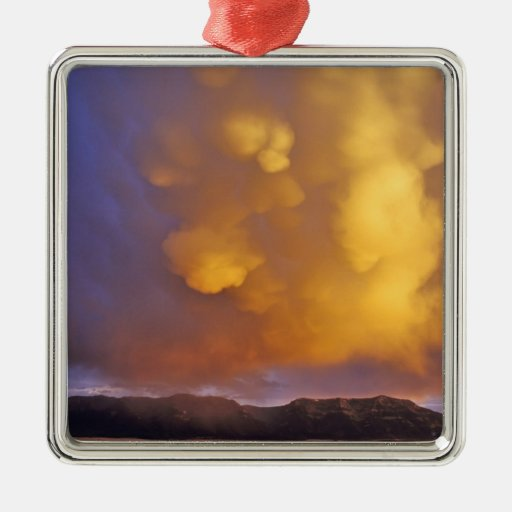 Storm Clouds in the Centennial Range in Montana Christmas Tree Ornaments