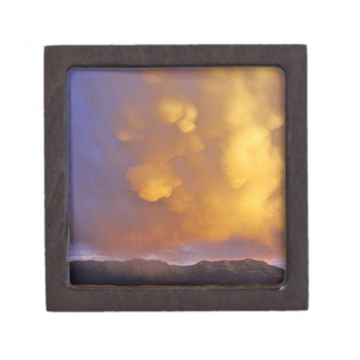 Storm Clouds in the Centennial Range in Montana Premium Keepsake Box