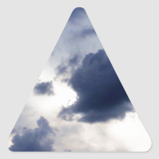 Storm Clouds on the Horizon.jpg Triangle Sticker