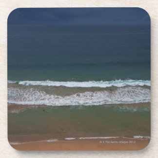 Storm clouds out ot sea above Mona Vale Beach Beverage Coaster