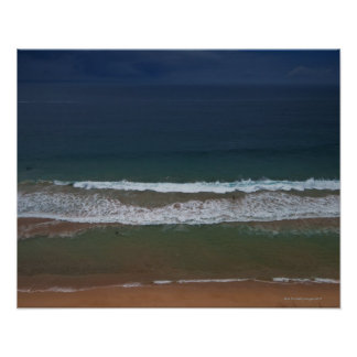 Storm clouds out ot sea above Mona Vale Beach Poster