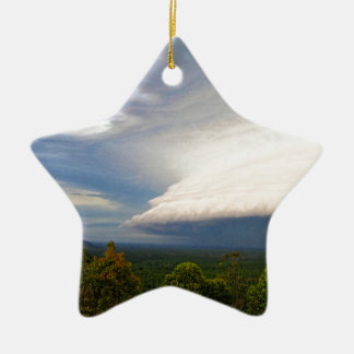 Storm clouds over Australian landscape Ceramic Ornament
