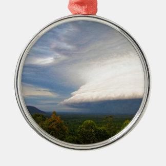 Storm clouds over Australian landscape Metal Ornament