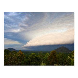 Storm clouds over Australian landscape Postcard