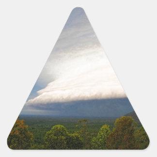 Storm clouds over Australian landscape Triangle Sticker