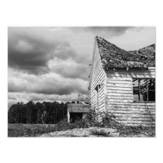 Storm Clouds Over Old Shack Photo Print