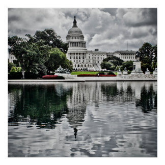 Storm Clouds over Washington Poster