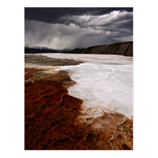 STORM CLOUDS OVER YELLOWSTONE NATIONAL PARK POSTCARD