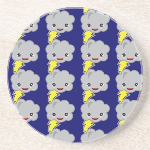 storm clouds pattern drink coasters