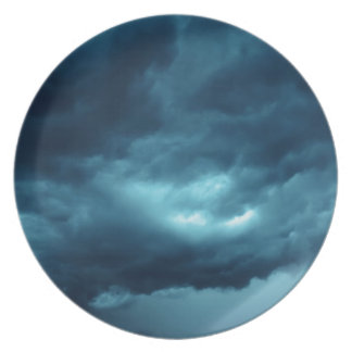Storm clouds plate