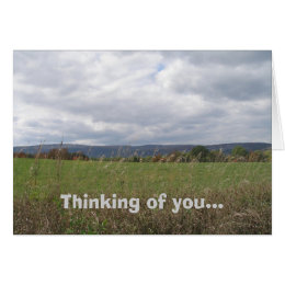 Storm Clouds Thinking of You Card