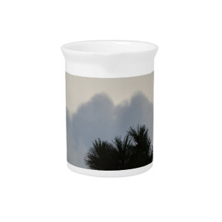 Storm Clouds through Pine Tree Beverage Pitchers