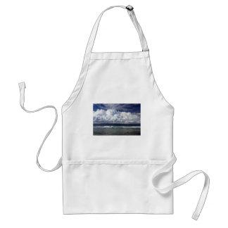 Storm clouds tropical coastline adult apron