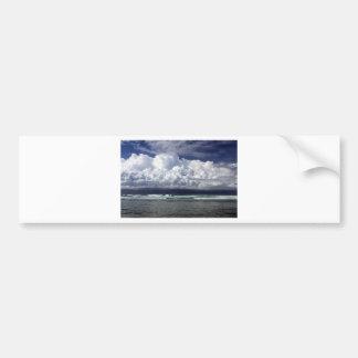 Storm clouds tropical coastline bumper sticker