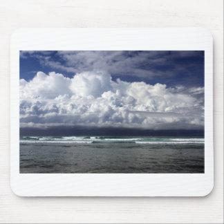 Storm clouds tropical coastline mouse pad
