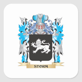 Storm Coat of Arms - Family Crest Square Sticker