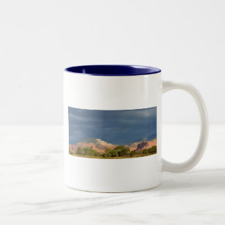 Storm Coming-Torrey Utah Two-Tone Coffee Mug