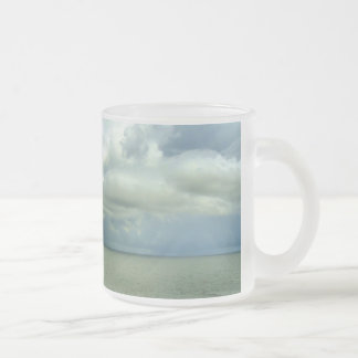 Storm Coulds Off Starboard Frosted Glass Coffee Mug