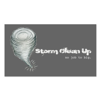 Storm Damage Job Cleanup Twister Debris Double-Sided Standard Business Cards (Pack Of 100)