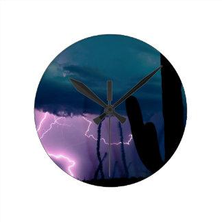 Storm Desert Snap Bolts Round Clock
