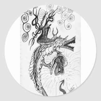 Storm Dragon Sticker