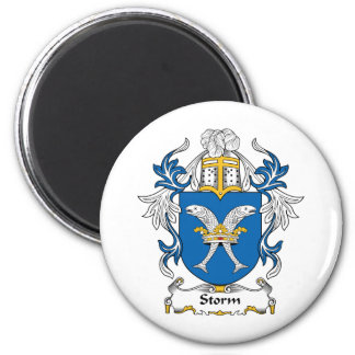 Storm Family Crest 2 Inch Round Magnet