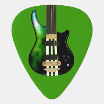 Storm Five String Electric Bass Guitar Pick by rockatfirstsite_II at Zazzle