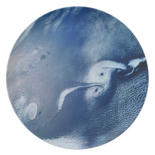 Storm Formations above Earth Melamine Plate