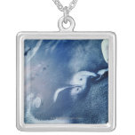 Storm Formations above Earth Square Pendant Necklace